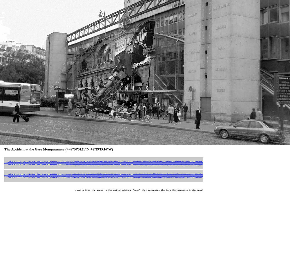 """The Accident at the Gare Montparnasse (+48°50'31.11""""N +2°19'13.14""""W)"""