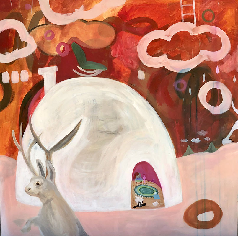 The Jackalope at the Door