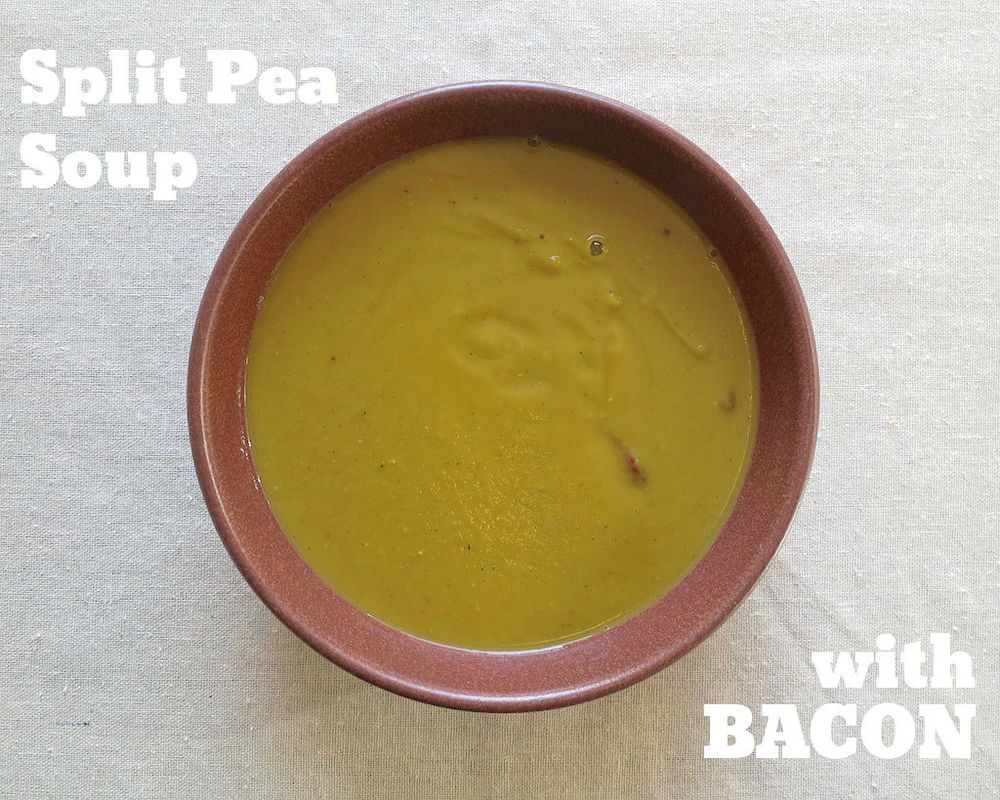 Split Pea Soup with Bacon www.glutenfreetravelette.com