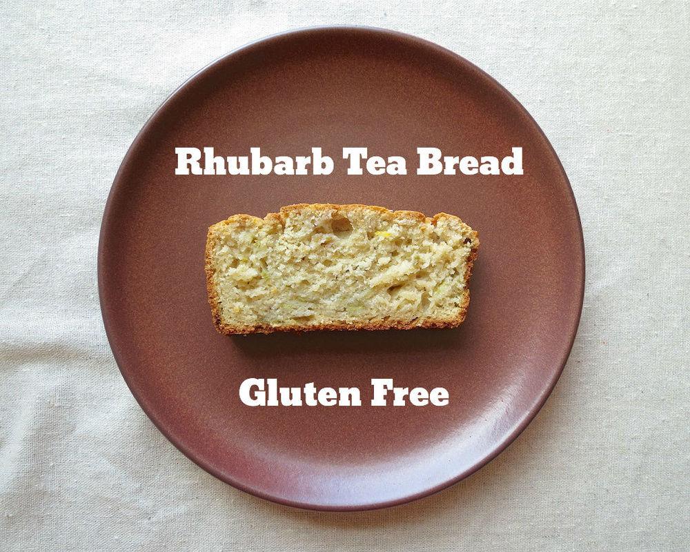 Gluten Free Ratio Rally Rhubarb Tea Bread www.glutenfreetravelette.com