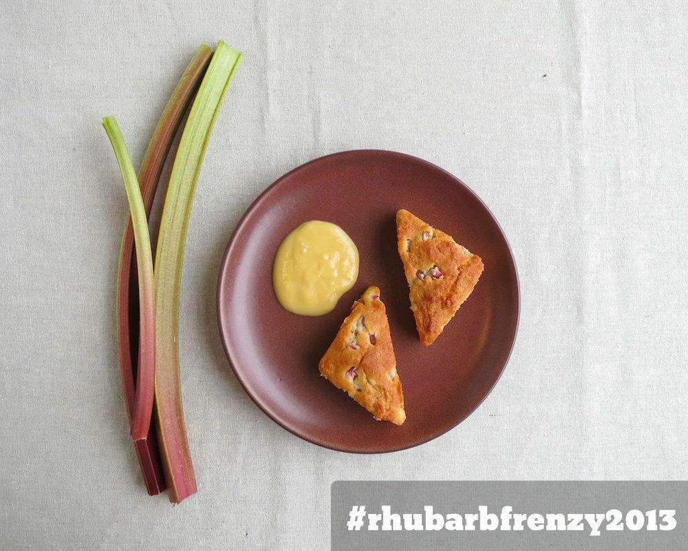 Rhubarb & Vanilla Yogurt Scones with Rhubarb Curd www.glutenfreetravelette.com