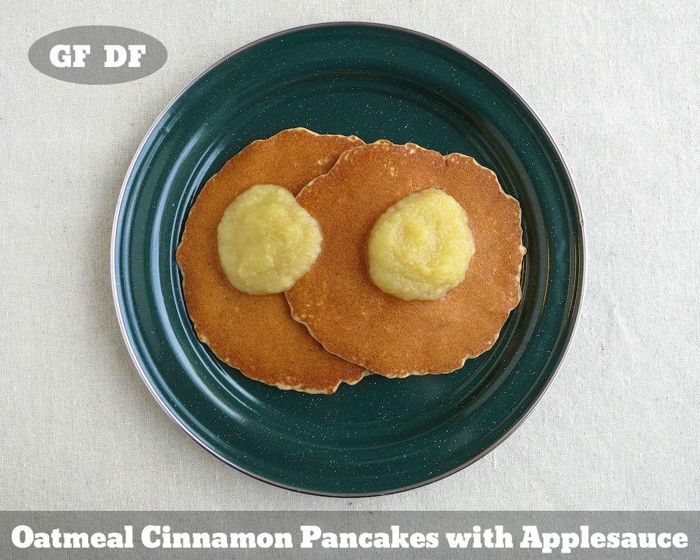 Camping Recipe: Oatmeal Cinnamon Pancakes Gluten Free Dairy Free www.glutenfreetravelette.com