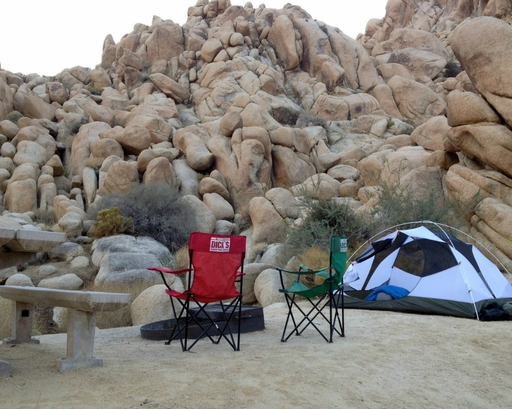 Camping at Indian Cove Campground in Joshua Tree National Park