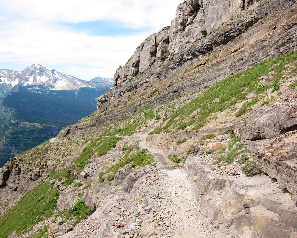 Camping Road Trip Itinerary Glacier National Park Highline Trail