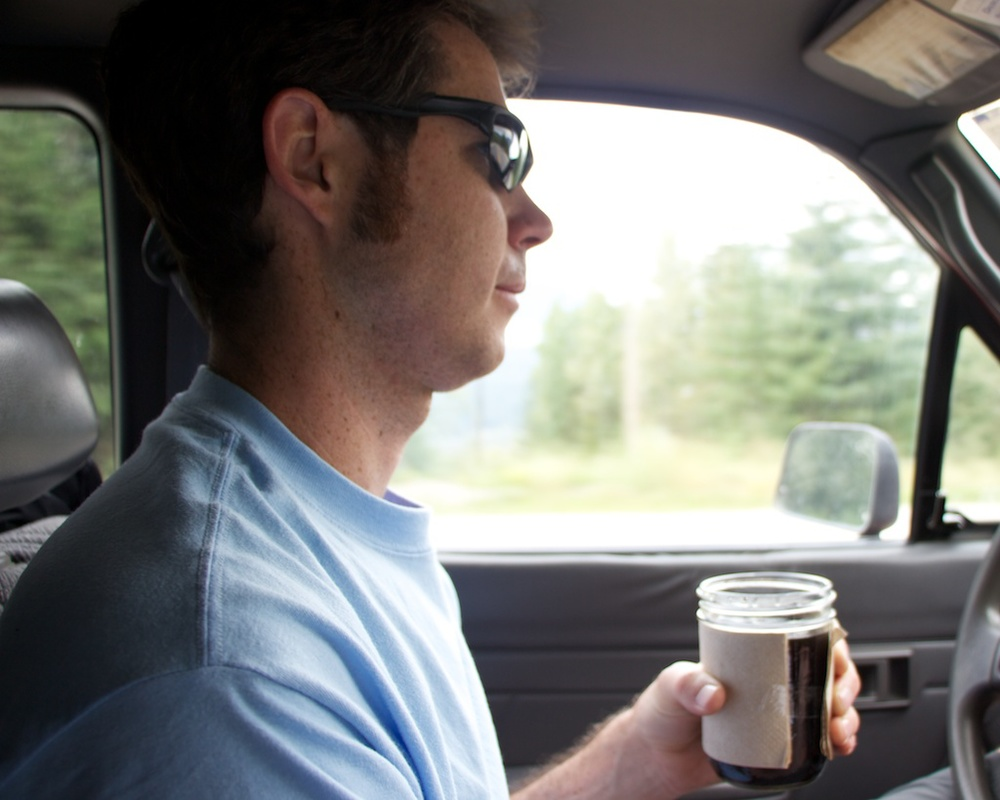 Driving with Coffee In a Jar www.glutenfreetravelette.com