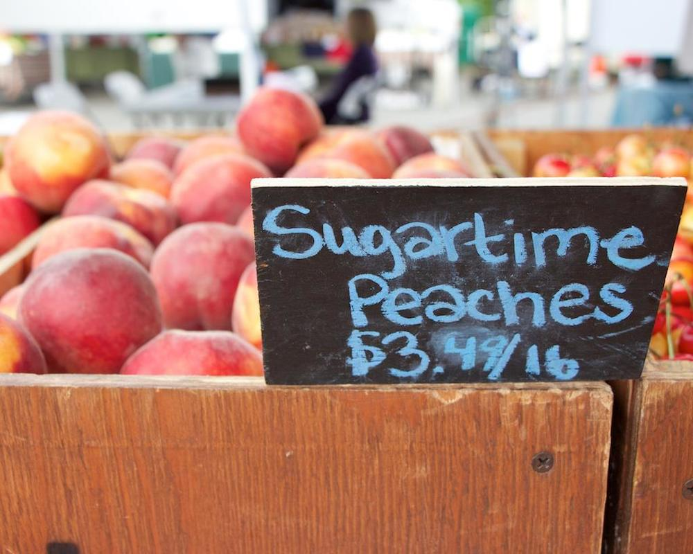Phinney Farmers Market Peaches