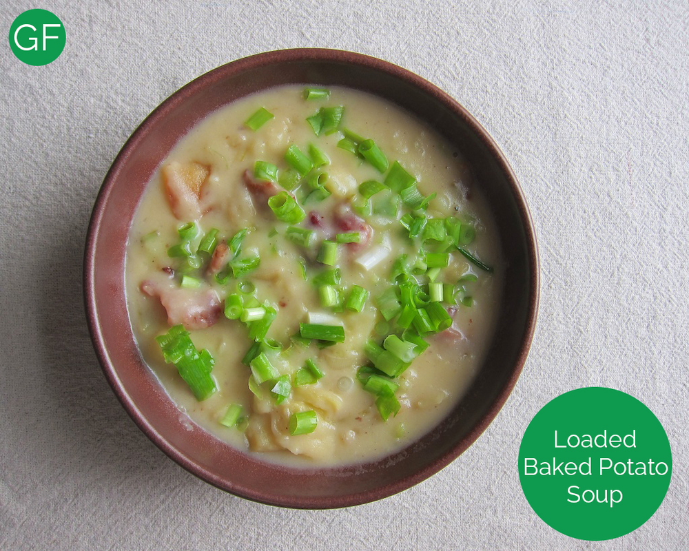 Loaded Baked Potato Soup Gluten Free www.glutenfreetravelette.com