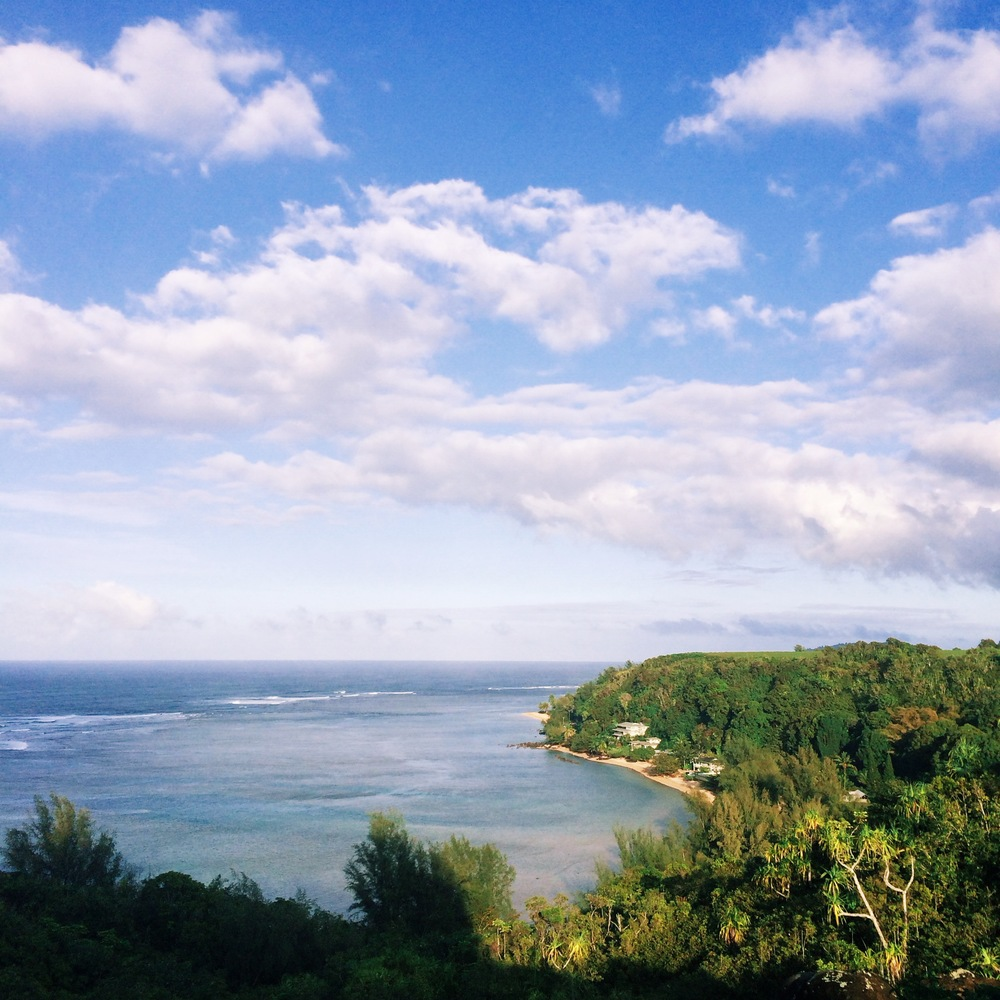 Overlook of Anini Beach, Princeville, Kauai