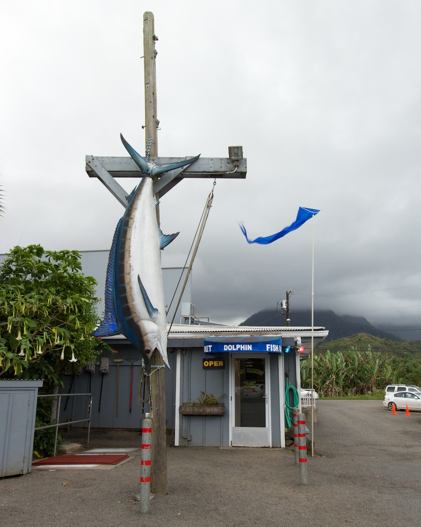 The Dolphin Fish Market in Hanalei