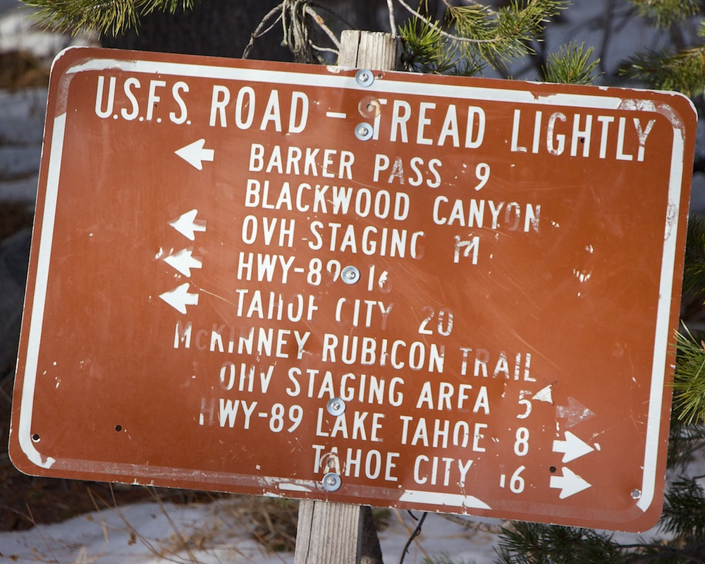 Rubicon Trail Sign