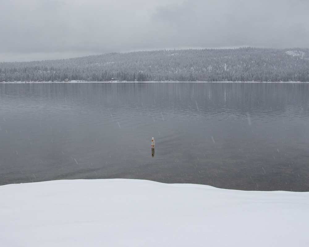 Snowshoeing in Ponderosa State Park Along Payette Lake in McCall Idaho