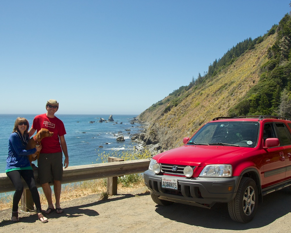 At the mouth of Highway 1 on the Northern California Coast
