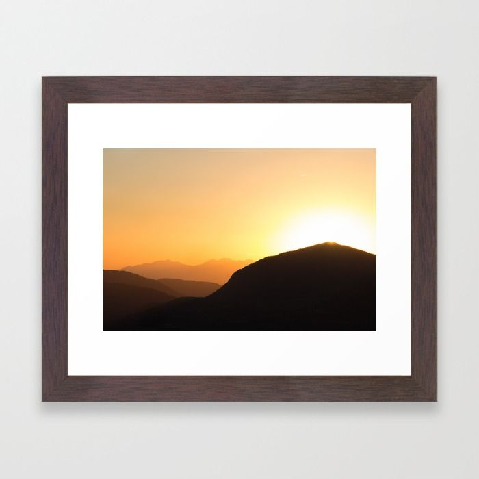 Telluride Sunset Framed Print