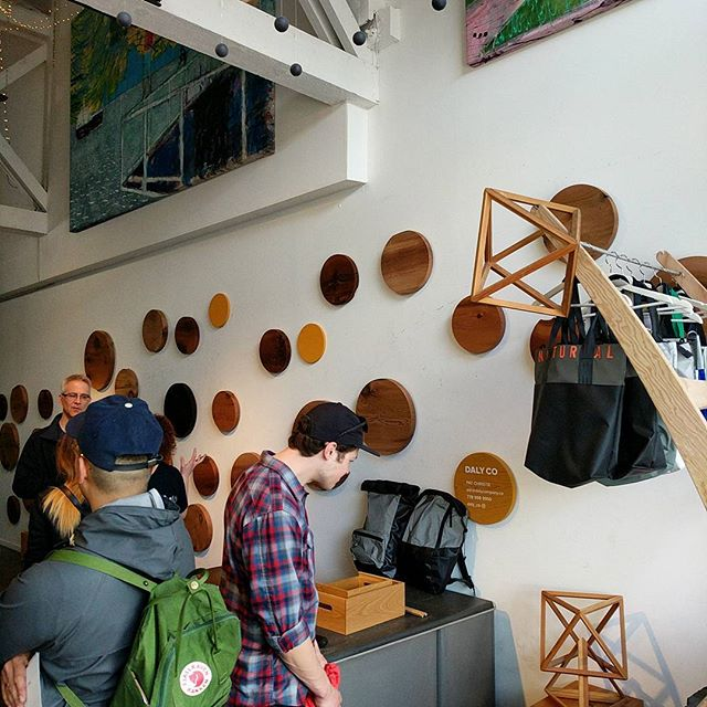 Daly Co. Is open for @vandesignwk  Between @spacetospace_co and @yewwoodshop come check out how we do what we do and bring great ideas to life!  #yvrdesign #industrialdesign #bcwood #bcmade