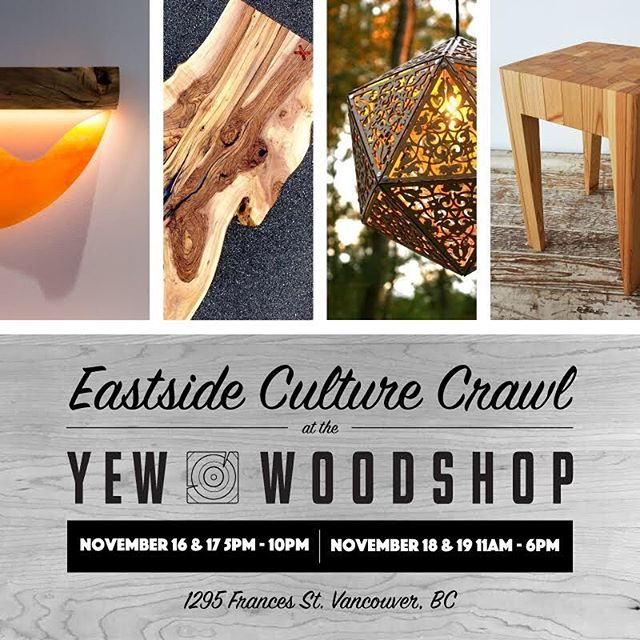 Happening now! Stop in, say hello and see some cool stuff we made. 😁 #wellbehereallweekend #madelocal #customwoodwork #artanddesign @ari.lazer @ogadesigns @designjamin @willowandstump