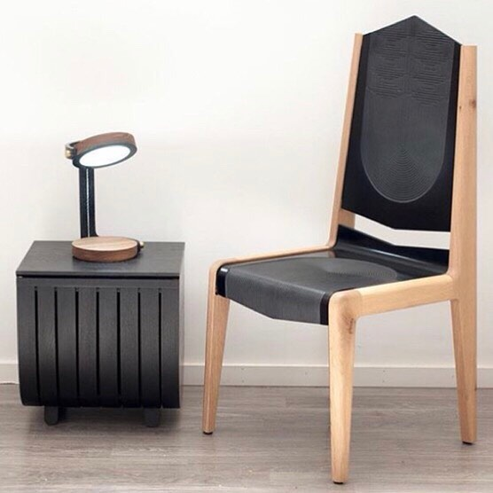 Bram and Kaly of @willowandstump will be showcasing their PERK lamp, Darth Corian Chair and Fluyt Bench mini at the Vancouver @culturecrawl from November 15-18 at the @yewwoodshop. ⠀⠀⠀⠀⠀⠀⠀⠀⠀ Double tap if you like this rad trio! #paintitblack
