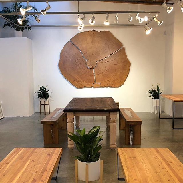 My Ancient Fir Round will be on display at 1359 Cartwright on Granville Island until Christmas alongside works by @firstgrowthreclaimed @chopvalue @vancouverhairpinlegs @unbuildersdeconstruction @northshoretropicals Come show your support for local businesses and stop in during your holiday shopping.  #sustainablevancouver #shoplocal #holidaypopup #custommade #reclaimedwood #douglasfir #ancientwood #granvilleisland #artisanwoodwork #art #design