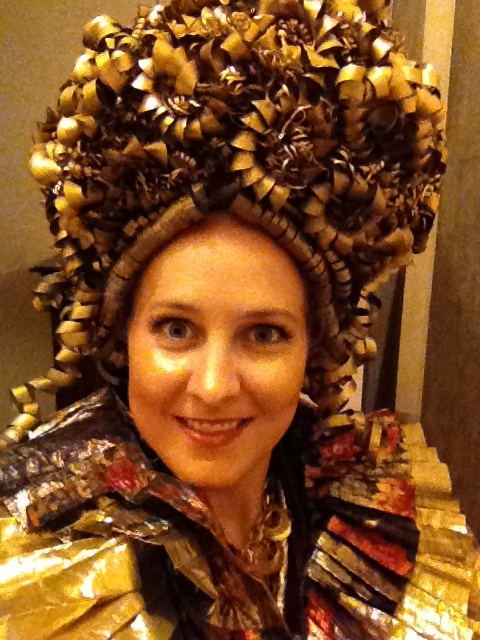 Backstage as Giunone with operamission - this wig was once worn by Leontyne Price!