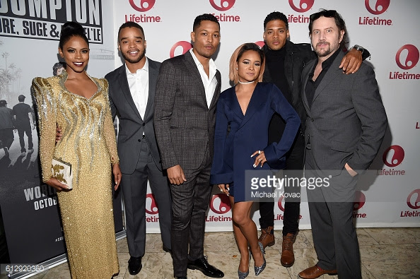 "Vonii attended the premiere of ""Surviving Compton: Dre, Suge & Michel'le"" at the London Hotel in West Hollywood."
