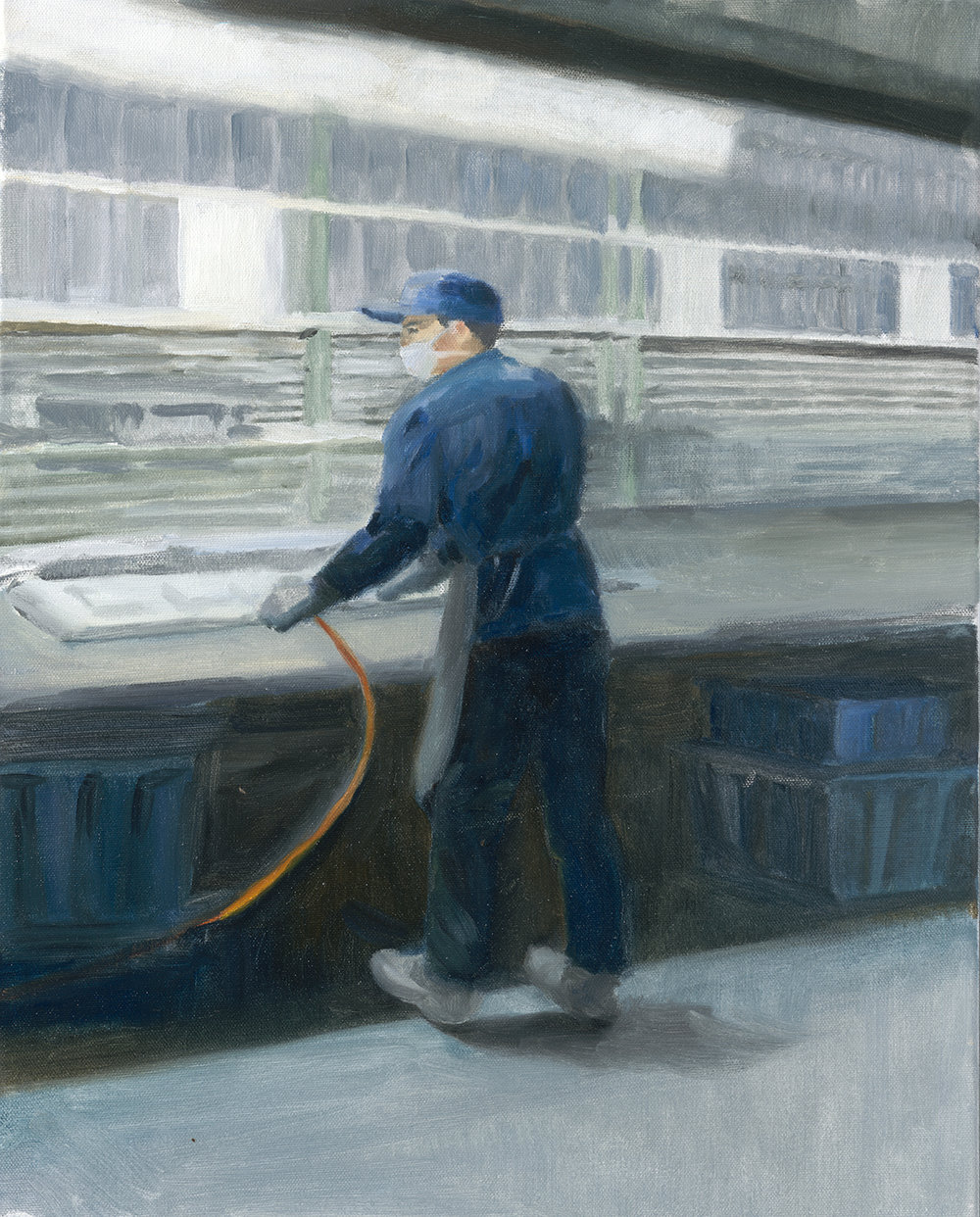 "The Metalworker, 2017, 20""x16"",  Oil on Canvas"
