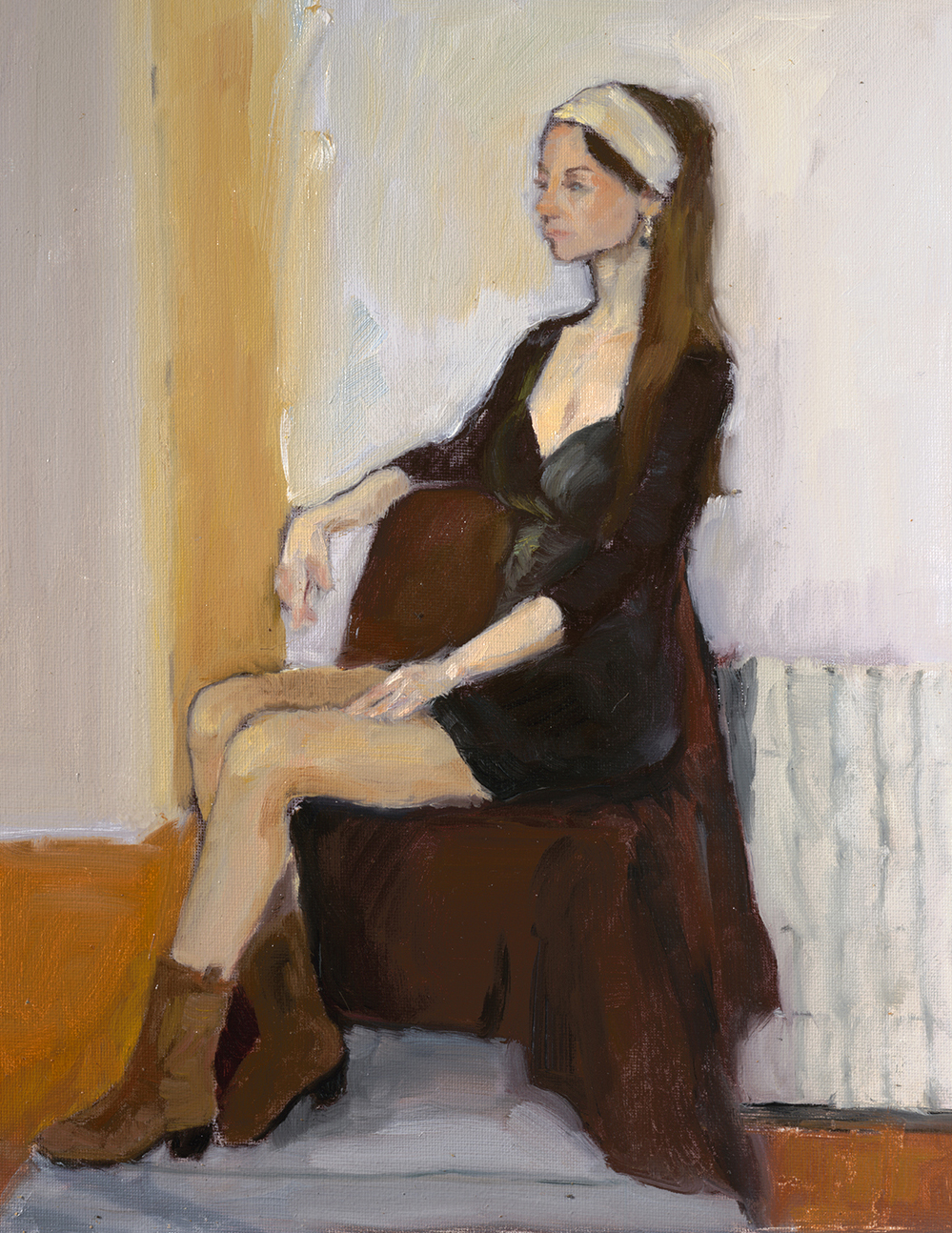 "Julia, 2017, 16""x20"", Oil on Canvas"