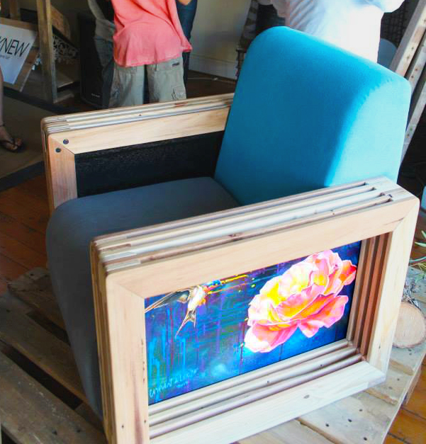 Kristen's finished armchair. Awesome!