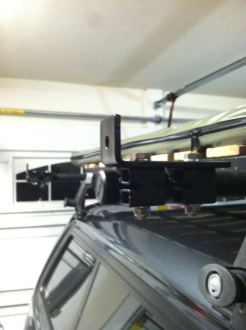 Ready for the awning.  We actually flipped the clamps over to the drivers's side after this shot.