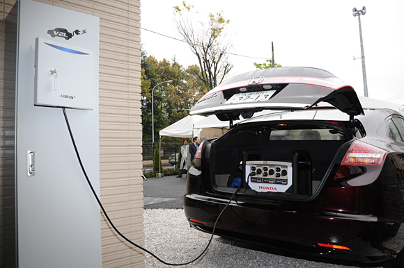 An electric vehicle can pull double duty and act as a home generator during power outages