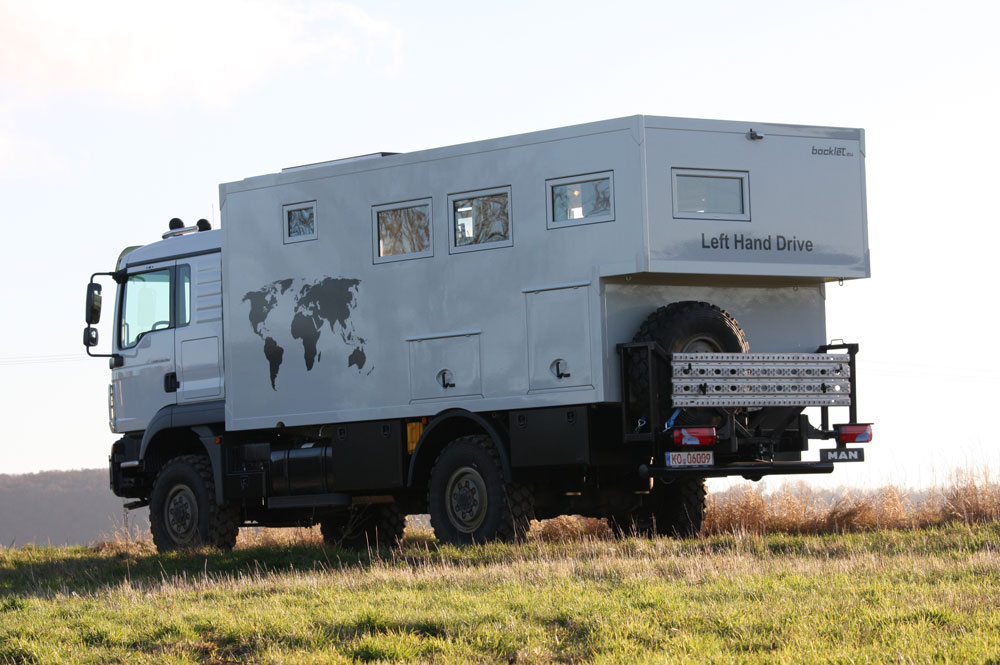 the Snaiths Man 4x4 is prepped with luxuries similar to an RV but capable of word travel