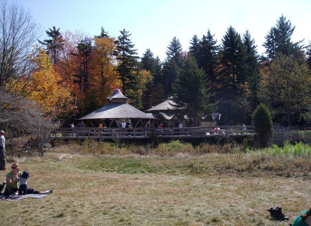 The  Spruce Knob Mountain Center's  lodges are patterned after Mongolian yurts