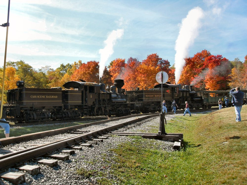 Take a trip back in time on the Cass Scenic Railroad, located in Pocahontas Co. WV.