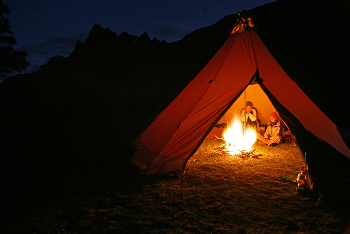 Polycotton canvas and engineered venting allow most Tentipi models to accommodate an open fire.