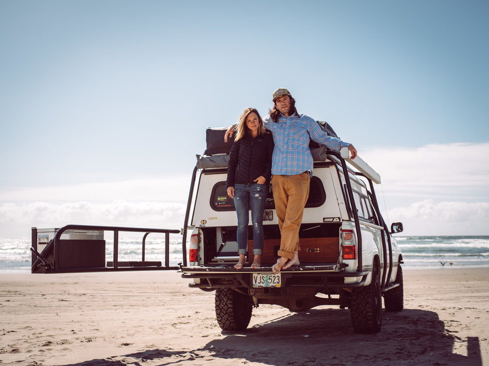 February 2018  |  Noah Twining   Noah and his girlfriend Amalie have been traveling and living out of their Toyota T100 since last summer.  They started in Oregon and circumnavigated the United States before dropping into Baja where they currently reside. This trip has been a long time dream of theirs and last year they dropped their careers, put everything in storage and hit the road. They have seen so many places that they would have never been able to get to on the short vacations they were accustomed to. Learn more about  Noah  and  Amalie  on Instagram.