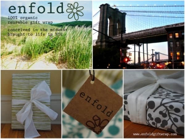 enfold reusable gift wrap 100% organic cotton. made in NYC #madeinNYCM