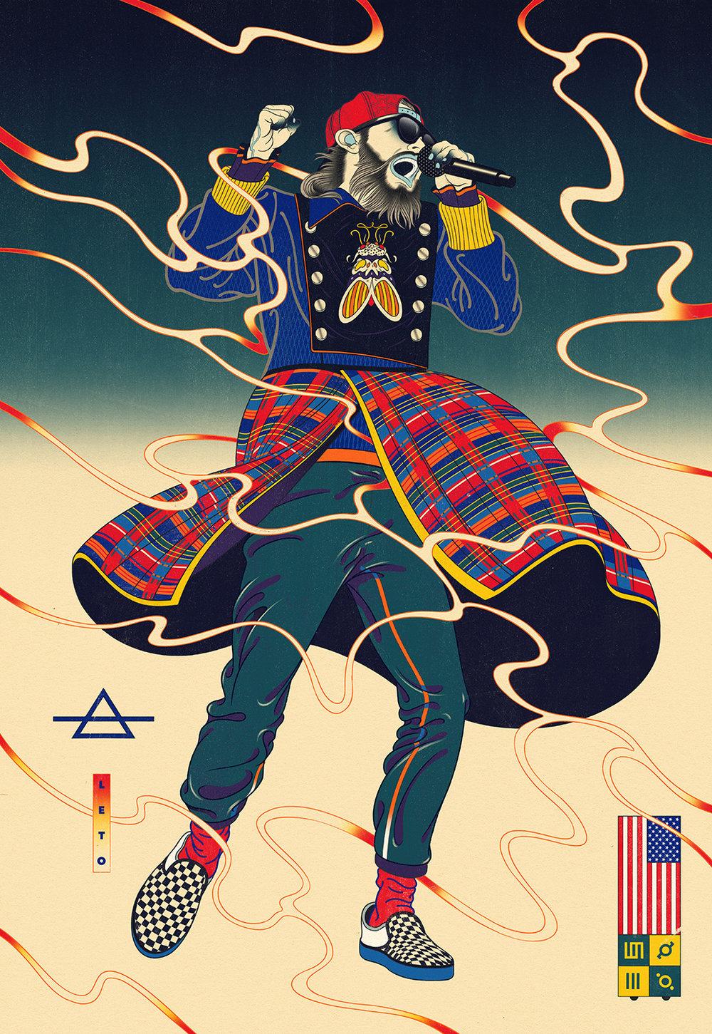 Jared Leto — 30 Seconds To Mars Artwork