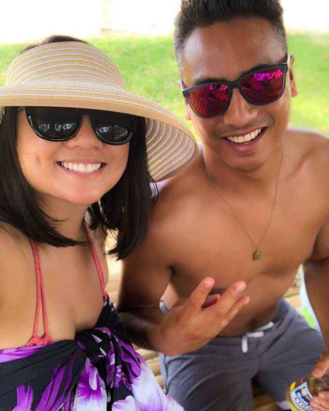 With my sweet brother bear @calebmiranda43 at our first stop Lacpan Beach!! We had the BEST time touring Palawan!! Love you Caleb!! XoxoCM 😎💗😎🐻🐯🤙🏽🌺🌊🏖🙌🏽💫💛💙💛 #loveyou #brother #brothersisterlove #somuchfun #palawan #islandlife #beachlife #mahalo #mabuhay #elnido #philippines #blessed #selfie #itsmorefuninthephilippines