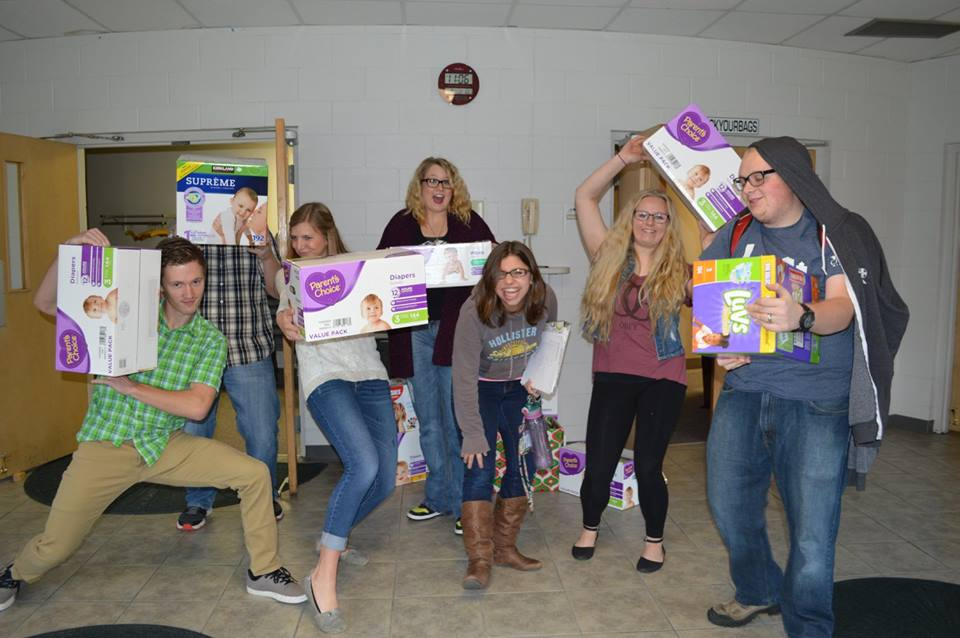 We held a diaper drive and collected over 1,000 diapers! One of the biggest diaper donations Phil & Mindee have ever received.