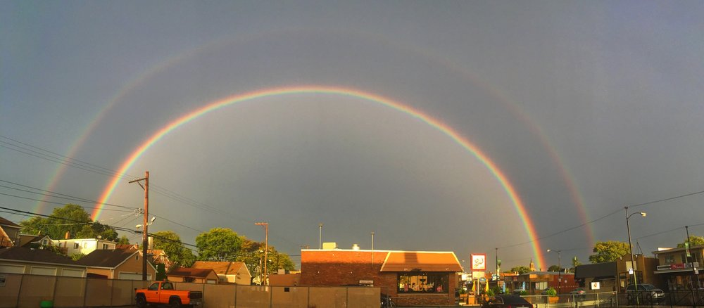 This stunning double rainbow met us right as we were leaving to go pray with those on the streets. It was a timely reminder of God's faithfulness & promises. It gave us that extra push of boldness knowing we were not alone! -