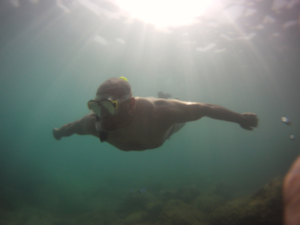 Snorkeling in the Mediterranean sea Spain