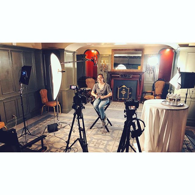 Interview shoot in a colorful old room at the @thedriskill last week! #videoproduction #conversationalinterviews #storytelling #atx