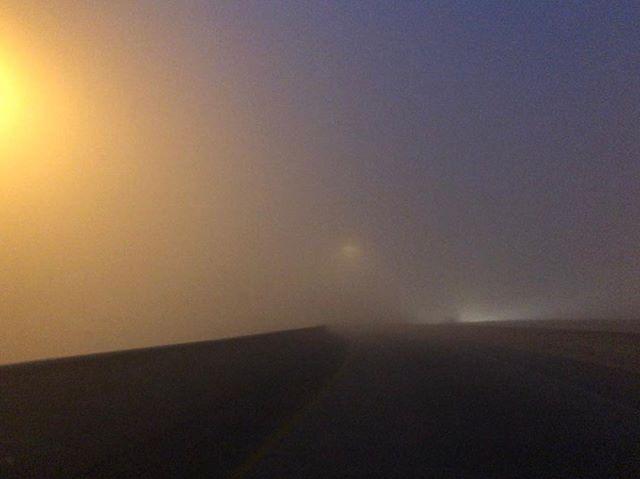 Bladerunner morning today  #orangeandblue #bladerunner #atx #fog #atx
