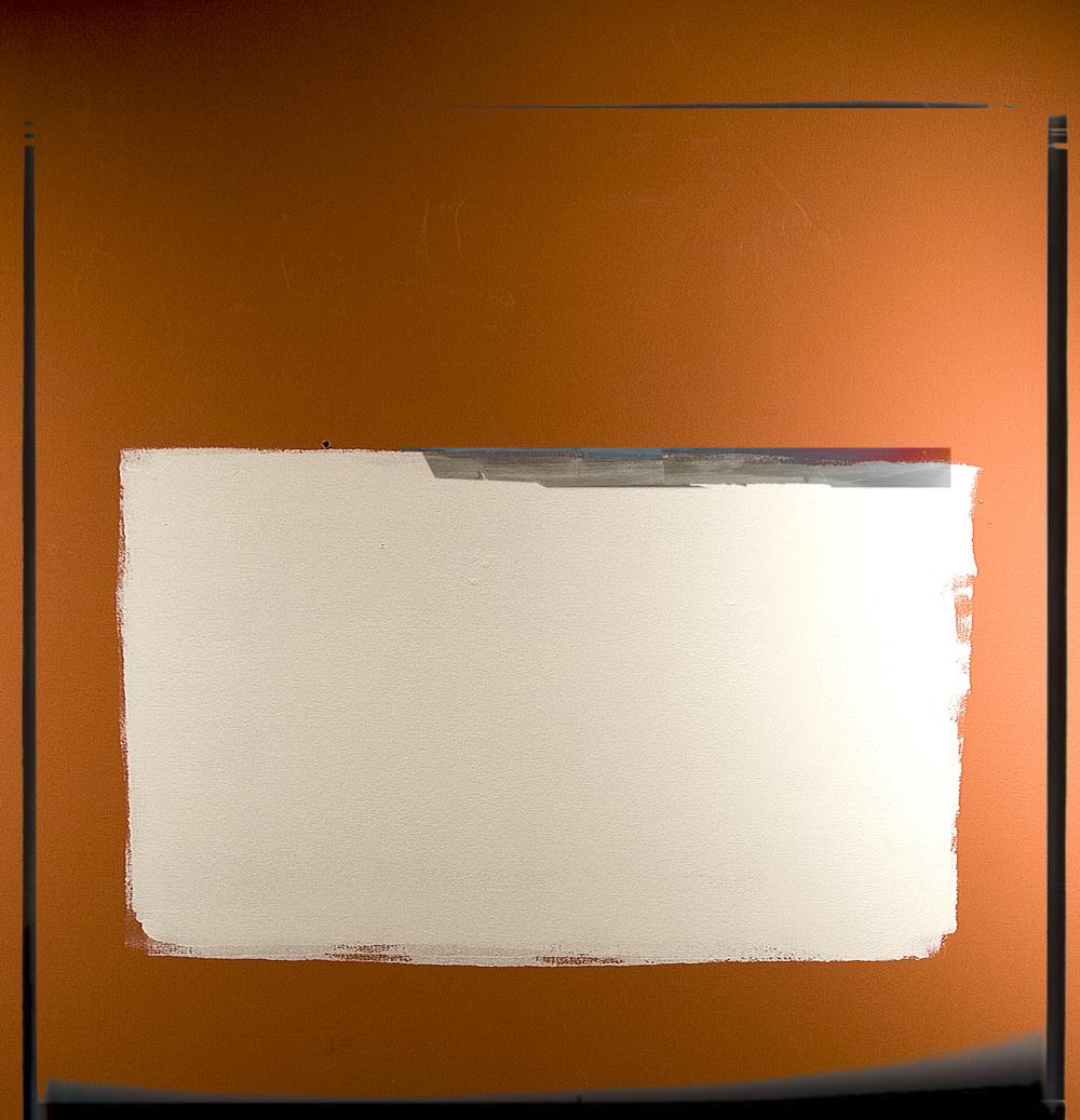 Paint Swatch On Orange Wall 3580 V4