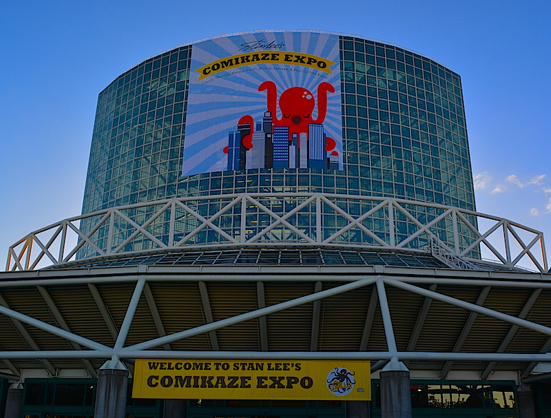 LA convention center in Comikaze regalia.  ©West of The Rockies