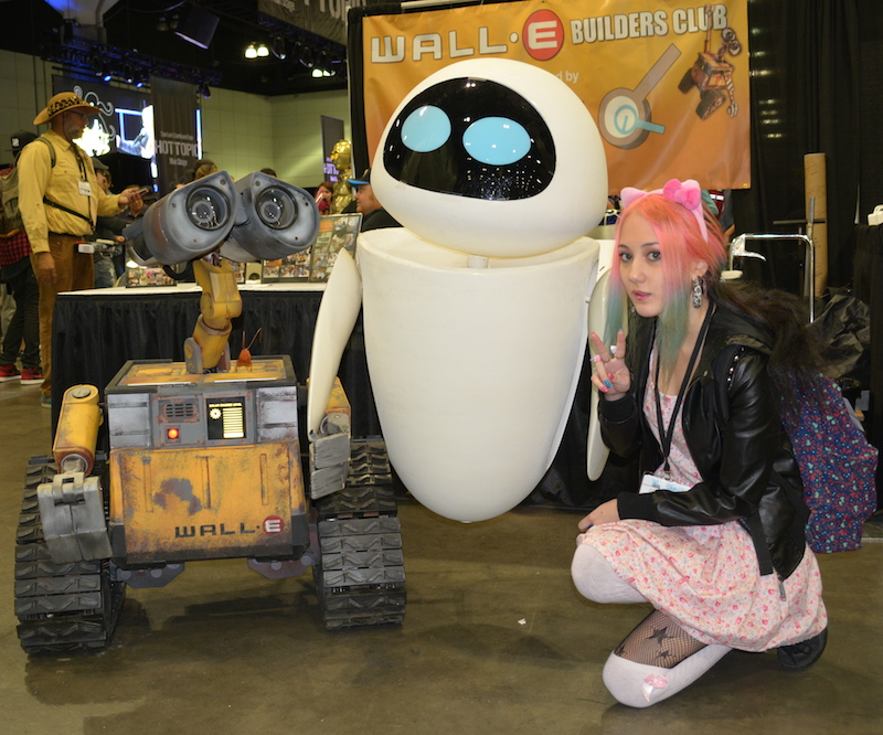 Wall-E and Eve posing for WoTR.  © West of The Rockies