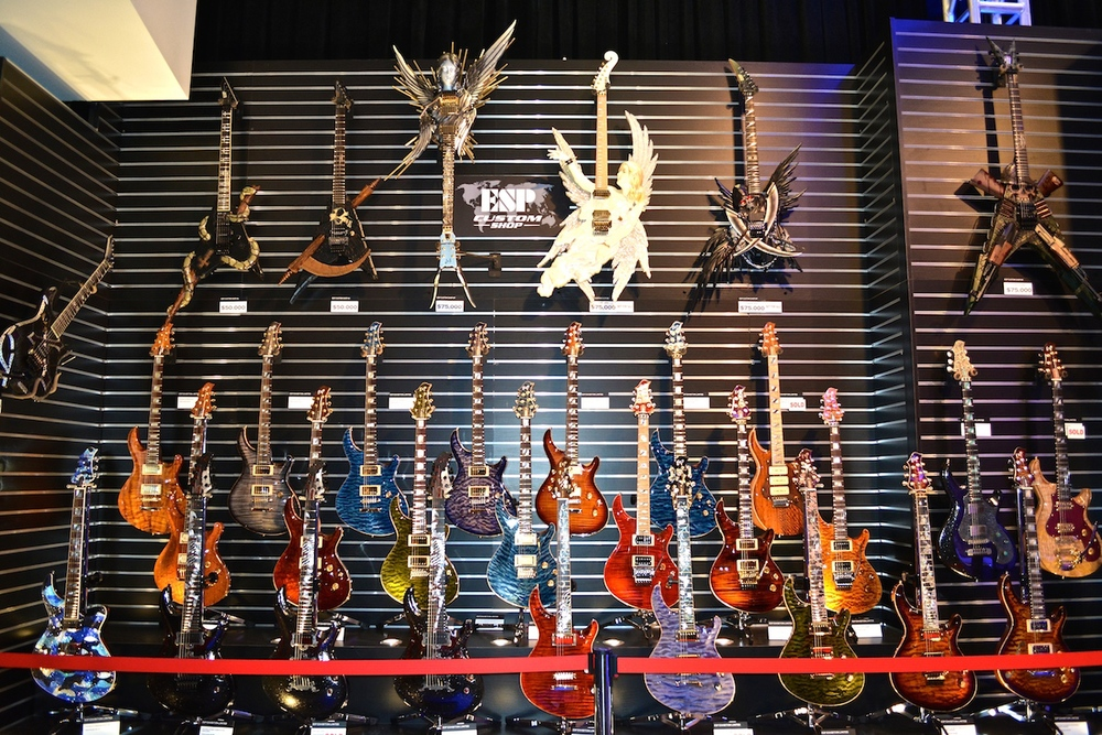 The amazing  ESP   Guitars  Custom Shop, NAMM 2015