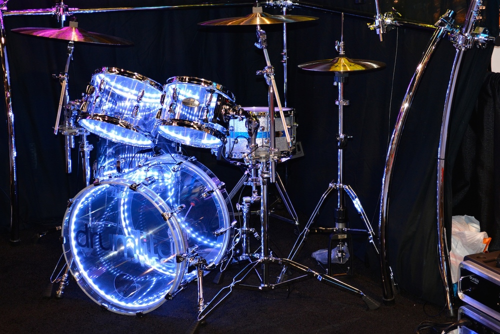 Light-up drums by  DrumLite,  NAMM 2015.