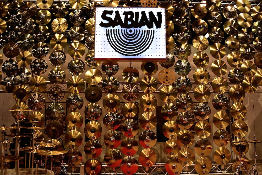 Sabian Cymbals, NAMM 2015. ©WoTR Radio