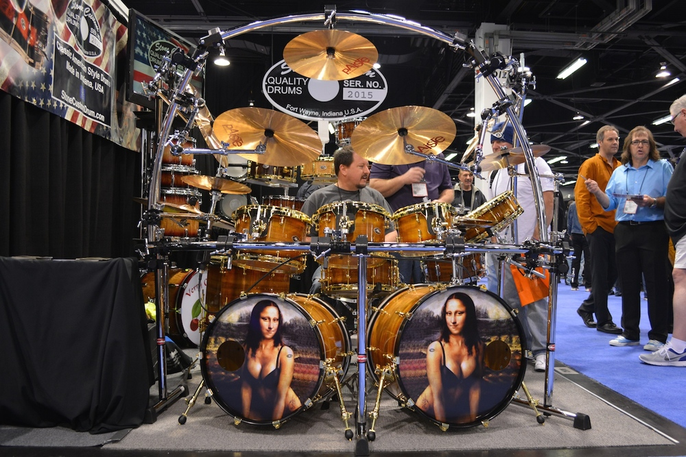 Stone Custom Drums, NAMM 2015. ©WoTR Radio