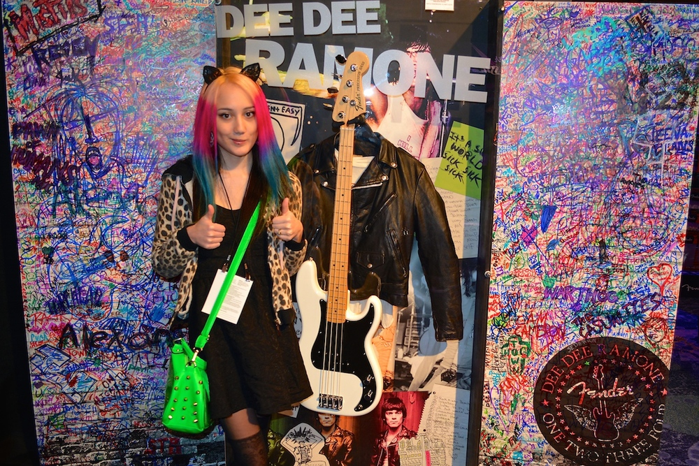 Dee Dee Ramone shrine @ Fender. NAMM 2015. ©WoTR Radio