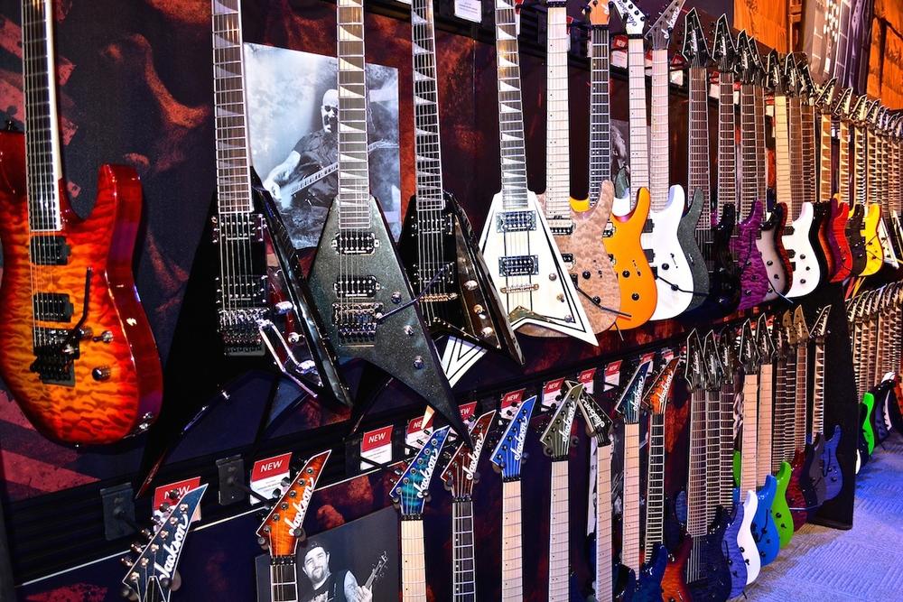 Jackson guitars, NAMM 2015. ©WoTR Radio